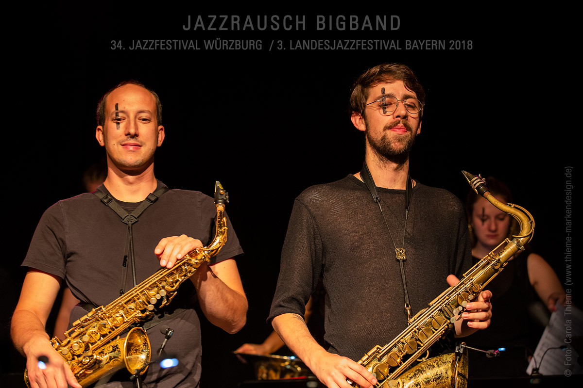 34. Jazzfestival Würzburg / 3. Landesjazzfestival Bayern 2018 –Jazzrausch Bigband